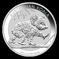 1 oz Silbermünze - australischer Koala - 2016