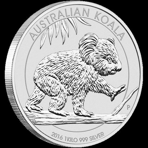 1 kg australische Silbermünze - Koala - 2016