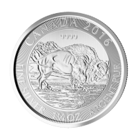 Moneda de Plata Bisonte Canadiense de 1.25 oz 2016