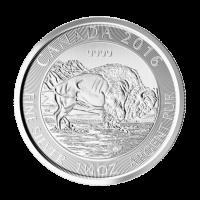 1,25 oz kanadische Silbermünze - Bison - 2016