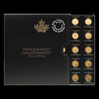 25 g (25 x 1 g) MapleGram25 Bogen mit Goldmünzen - 2016