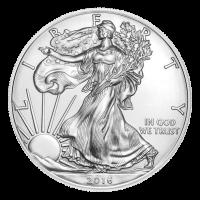 1 oz Silbermünze - amerikanischer Adler - 2016