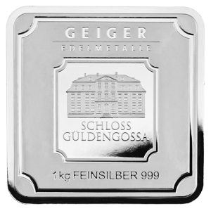 1 kg | kilo Geiger Edelmetalle Security Line Silver Bar