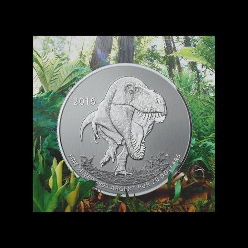 1/4 oz Silbermünze - Tyrannosaurus Rex $20 für $20 - 2016