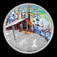 1 oz Silbermünze der kanadischen Landschaft Serie | Ski Almhütte 2016 limitiert