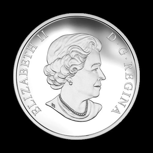 """Das Bild eines grotesk aussehenden, wilden, grünen Mannes und die Worte """"Canada 25 Dollars 2016"""" (Kanada 25 Dollar 2016)."""