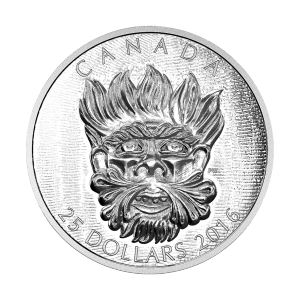 2016 Sculptural Art of Parliament | Grotesque Wild Green Man Silver Coin