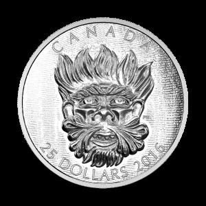 Stříbrná mince Sochařské umění parlamentu | Groteskní divoký zelený mužík 2016