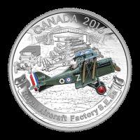 1 oz Silbermünze - Flugzeug aus der 2. Weltkrieg Serie | Royal Aircraft Factory S.E. 5A - limitiert