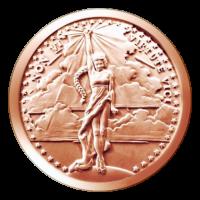 1 oz Kupfermedaille Non Vi Virtute Vici 2015