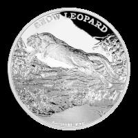 1 oz Silbermünze - vom Aussterben bedrohte Tierarten - Schneeleopard 2016 limitiert
