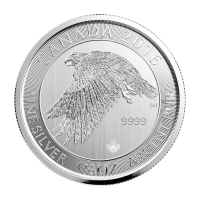 Moneda de Plata Halcón de las Nieves Canadiense 2016 de 1.5 oz