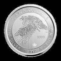 1,5 oz Silbermünze - kanadischer Schneefalke - 2016