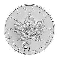 1 oz 2016 Canadian Maple Leaf Panda Privy Reverse Proof Silver Coin