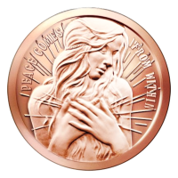 1 oz 2015 Peace Comes From Within Copper Round