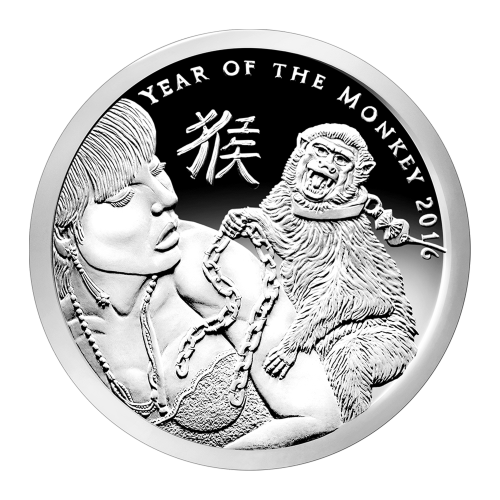 1 oz 2016 Silver Shield Year of the Monkey Silver Proof-Like Round