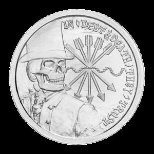 1 oz Silbermedaille - Schulden und Tod - 2012
