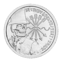 1 oz 2012 Debt and Death Silver Round