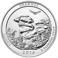 5 oz Silbermünze - Wunderschönes Amerika | Shawnee Wald Nationalpark 2016