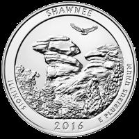 5 oz Silbermünze - Wunderschönes Amerika   Shawnee Wald Nationalpark 2016