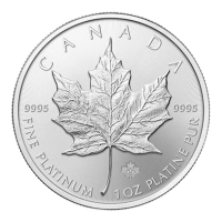 Pièce de platine Maple Leaf canadienne de 1 once 2016