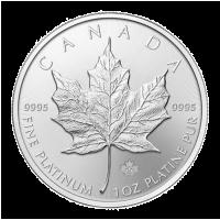 1 oz kanadische Platinmünze - Ahornblatt - 2016