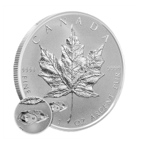 1 oz 2016 Canadian Maple Leaf Mark V Tank Privy Reverse Proof Sølvmynt