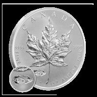 1 oz kanadische Silbermünze - Ahornblatt mit einer