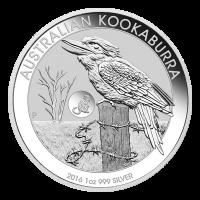 Pièce d'argent Kookaburra australien marquée Singe 2016 de 1 once