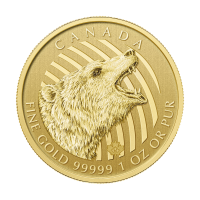 1 oz 2016 Call of the Wild Serie | Brullende Grizzly Beer Gouden Munt