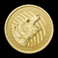 1 oz Goldmünze - Ruf der Wildnis Serie | Brüllender Graubär 2016