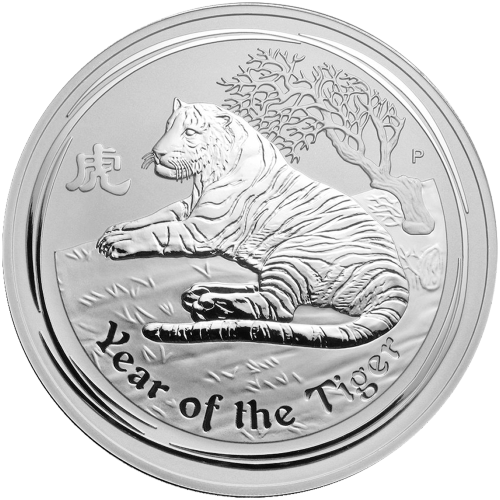1 kg | kilo 2010 Perth Mint Lunar Year of the Tiger Silver Coin