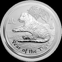 1 kg Silbermünze Jahr des Tiger Perth Prägeanstalt Mondserie 2010