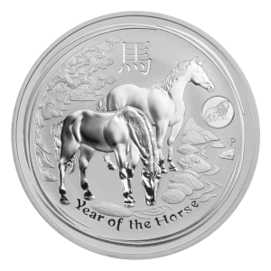 1 oz 2014 Perth Mint Lunar Year of the Horse Lion Privy Silver Coin