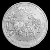 1 oz Silbermünze Jahr der Ziege Löwe Sonderprägezeichen Perth Prägeanstalt Mondserie 2015