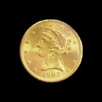Random Year $5 Liberty Half Eagle Gold Coin