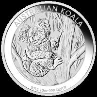 Pièce d'argent Koala australien 2013 de 10 onces