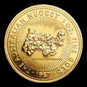 1 oz 1987 Australian Nugget Gold Coin