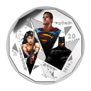 1 oz 2016 Batman v Superman: Dawn of Justice™ | The Trinity Silver Coin