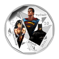 1 oz 2016 Batman v Superman: Dawn of Justice� | The Trinity Silver Coin