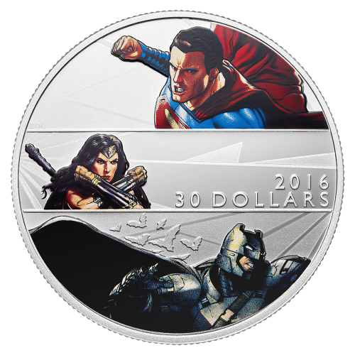 2 oz 2016 Batman v Superman: Dawn of Justice™ Silver Proof Coin