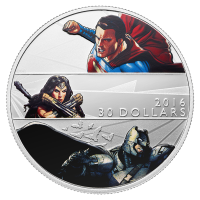 2 oz 2016 Barman v Superman: Dawn of Justice™ proof sølvmynt