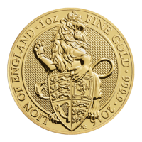 1 oz 2016 Royal Mint Queen's Beasts | Lion of England Gold Coin