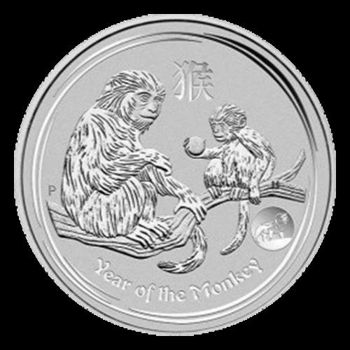 """Abbild der Königin Elizabeth II. und die Worte """"Elizabeth II Australia 1 oz 999 Silver 2016 1 Dollar"""" (Elizabeth II. Australien 1 oz 999 Silber 2016 1 Dollar)."""