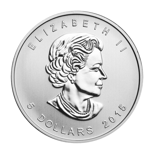 """Symbole der fünf Segnungen der chinesischen Kultur und die Worte """"Canada Fine Silver 9999 1 oz Argent Pur 9999"""" (Kanada Feinsilber 9999 1 oz Reines Silber 9999)."""