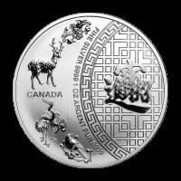 1 oz eingeschweißte Silbermünze - Fünf Segnungen - RCM 2015