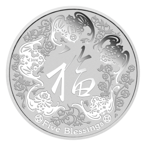 1 oz 2016 Perth Mint Five Blessings Silver Coin