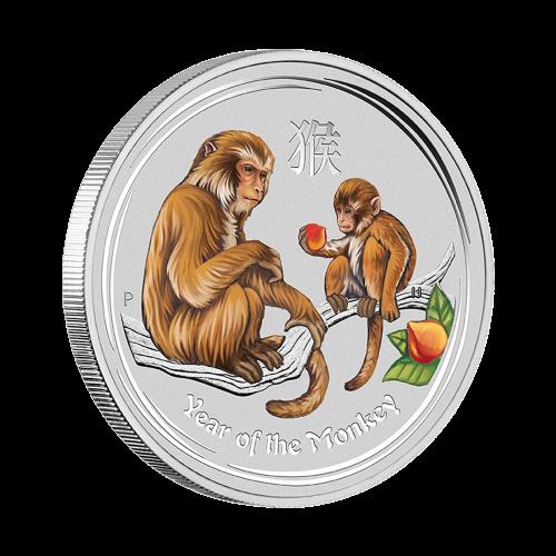 1/2 oz eingefärbte Silbermünze - Jahr des Affen - Perth Prägeanstalt 2016