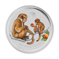 1/2oz 2016 Perth Mint Lunar Year of the Monkey Colourized Silver Coin