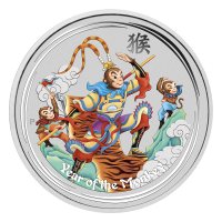1 oz 2016 Perth Mint Monkey King Colourized Silver Coin
